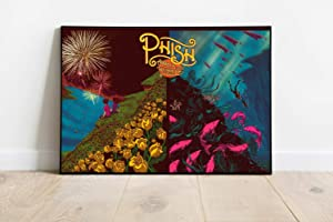Art Popular Picture Progressive Rock Band Decor Compatible With The Phish Hollywood Bowl 2013 Final Poster Dorm Wall Decor Unique Design Unframed Wall Art Size - 8,5'x11' 11'x17' 18'x24' 24'x32'24