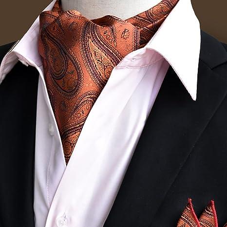 QIANGDA Pañuelo De Seda Hombres Corbata Pañuelo Cuello De ...