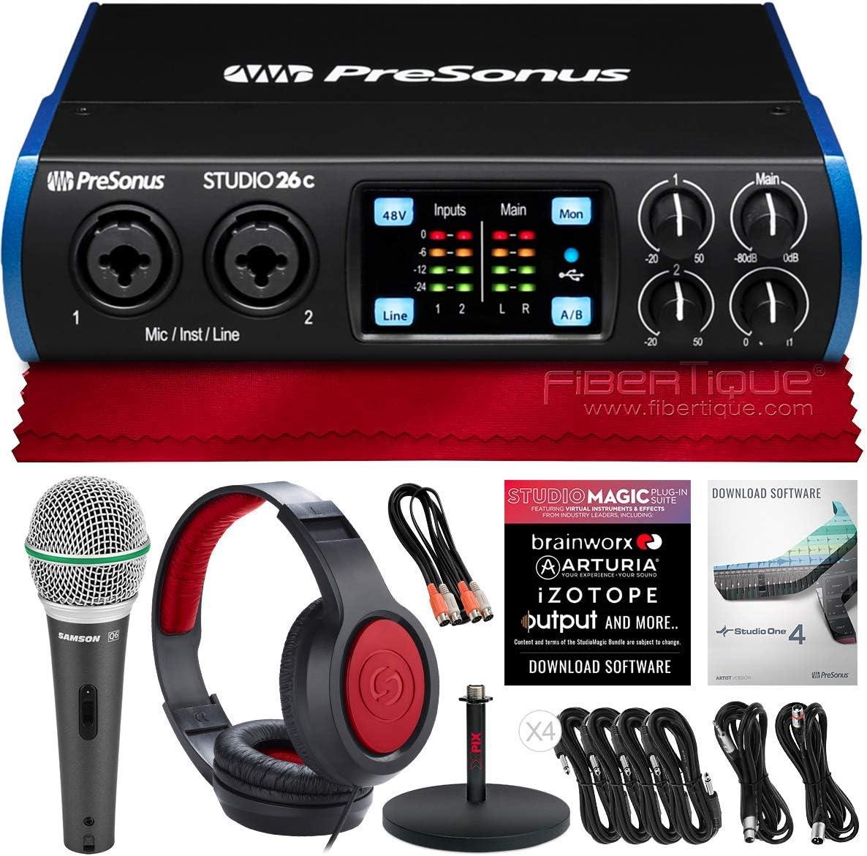 PreSonus Studio 26C 2-in 4-out USB-C SR360 Interface Audio Award Very popular Dyn +