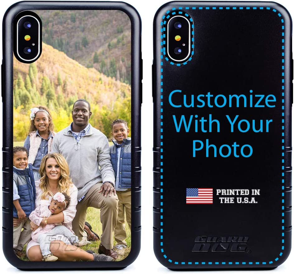 Guard Dog Custom iPhone Xs Max Cases - Personalized - Make Your Own Protective Hybrid Phone Case (Black, Black)