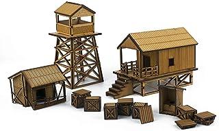 War World Gaming Jungle Warfare - Campamento Militar en DM - Escala 28mm Heroica Pacífico Wargaming Modelismo Contienda Militar Diorama Maqueta Wargame Miniaturas