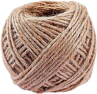 30m 16mm Cuerda de yute hilos naturales trenzados cordaje c/á/ñamo yute cuerda tender cuerdas cuerda de separaci/ón