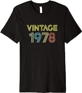 Vintage 1978 Birth Year Legend Born Original Young Genuine Premium T-Shirt