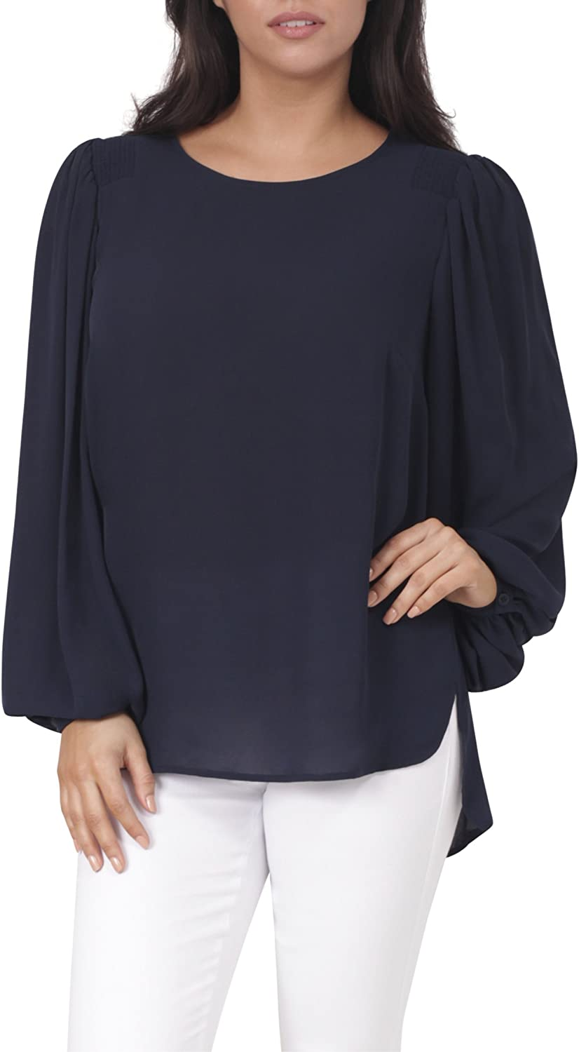 Eva Longoria Collection Billowy Sleeves with Smocked Shoulders Tunic Top