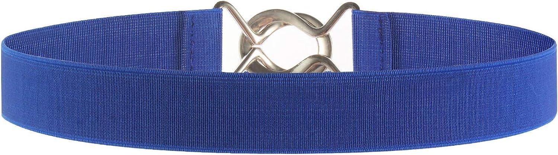 Syuer Dehnbarer Taillengürtel für Damen, schlichter Stil, elastischer Gürtel für Jeans-Kleider Blau