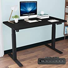 MAIDESITE Electric Height Adjustable Computer Desk, Ergonomic Memory Controller, Standing Height Adjustable Desk Top with ...