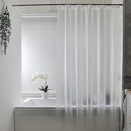 AooHome Clear Shower Curtain Liner, Eva Frosted Bathroom Curtain with 3 Bottom Magnets, Mildew Resistant, Heavy Duty,...