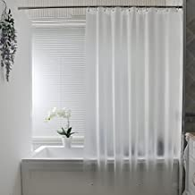 AooHome Frosted Shower Curtain Liner, Eva Extra Long Shower Curtain 72x78 Inch with 3 Bottom Magnets, Heavy Duty, Semi Transparent