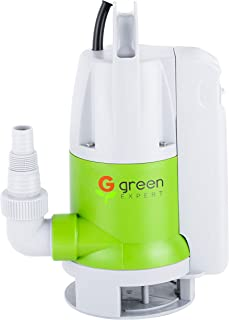 Green Expert 203624 1/2HP Thermoplastic Portable Electric Water Removal Pump Max 2642GPH with Unique switchable Built-in Switch Multipurpose Auto/Manual Modes with Large Flow for Quick Water Draining