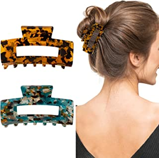Details about  /Boho Women Vintage Acetate Resin Hair Clips Hair Sticks Hair Styling Accessories