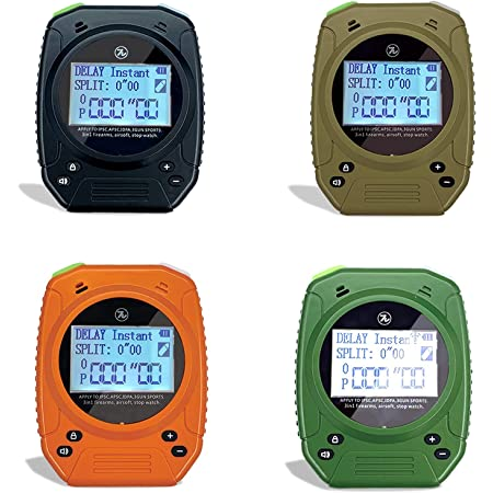 Design-Pie Shot Timer - Shooting Timer for Firearms Airsoft Stop Watch Perfect for Pistols Rifle Dry Fire in USPSA, IPSC, APSC, IDPA, 3 Gun, Steel Challenge Competition Timer (Random Color)