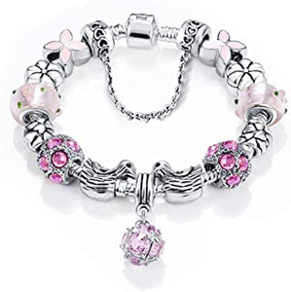 Best Bottom Price 2 Weeks Antique Silver Original Women Glass Charm Bracelet & Bangle Fit Charm Bracelet