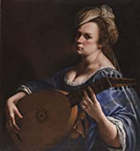 Berkin Arts Artemisia Gentileschi Giclee Art Paper Print Art Works Paintings Poster Reproduction(Self Portrait as a Lute Player)