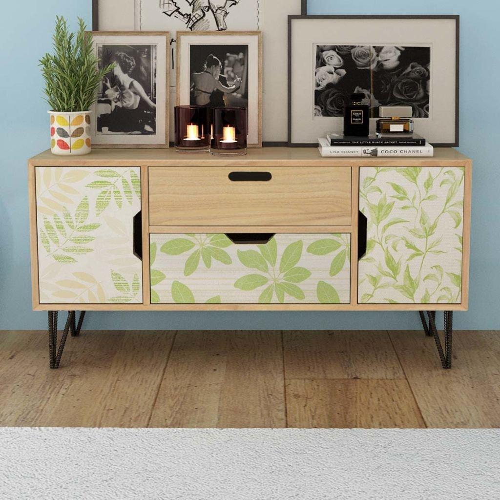 tidyard Mesa para TV con Diseño Escandinavo,Mueble Comedor ...