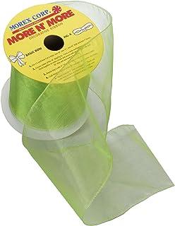 Morex Ribbon Wired 4-Inch Chiffon Ribbon with 10-Yard Spool, Apple