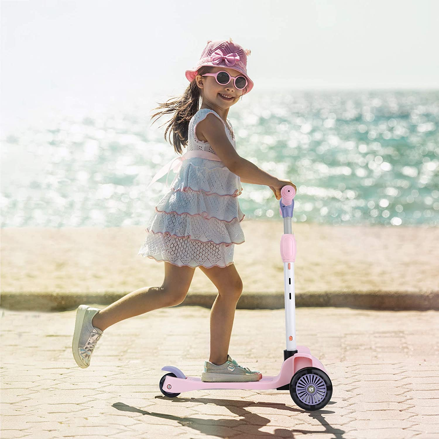 4 Adjustable Height /& Foldable Design Toddler Scooters Sit or Stand Ride for Boys /& Girls 2-10 Years Old 3 Wheel Kick Scooter for Kids Wheelive 3-in-1 Kick Scooter with Removable Seat