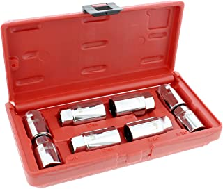 ABN Stud Extractor Set, Broken Stud Removal Socket 8-Piece SAE & Metric Stud Remover Set – Stud Puller Sockets