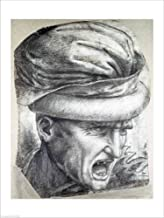 Head of a Warrior by Leonardo Da Vinci Laminated Art Print, 24 x 32 inches