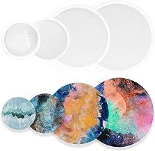 Funshowcase Assorted Round Coaster Resin Epoxy Silicone Moulds 4-Bundle