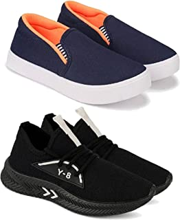 Camfoot Kids & Boys (1659-1208) Multicolor Casual Stylish Sports Shoes (Set of 2 Pair)