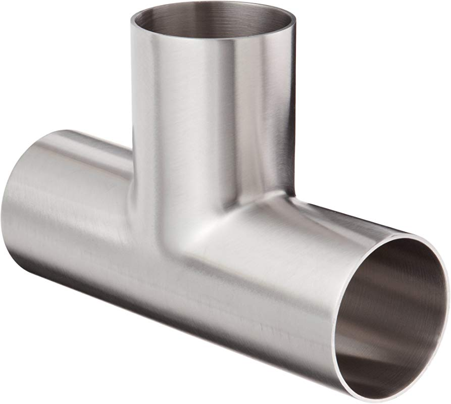 Dixon B7W G200P Stainless Steel 304 Polished Fitting Weld Long Tee 2 Tube OD