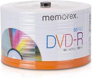 Memorex 32020031749 DVD-R 16x Eco Spindle Base Discs, 50 Pack