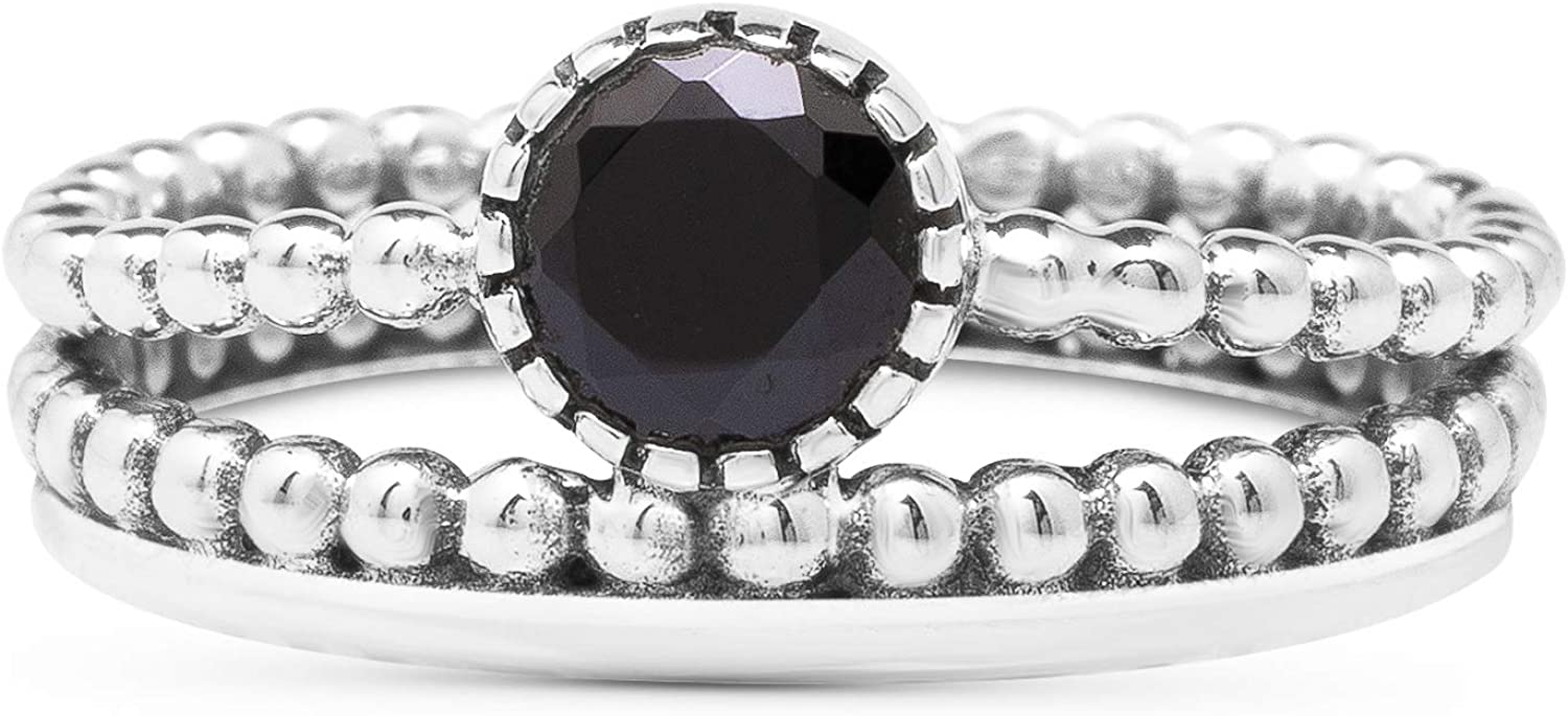 Koral Jewelry Cut Black Onyx Double Vin Ring 925 Max 60% OFF Sterling Silver Mail order