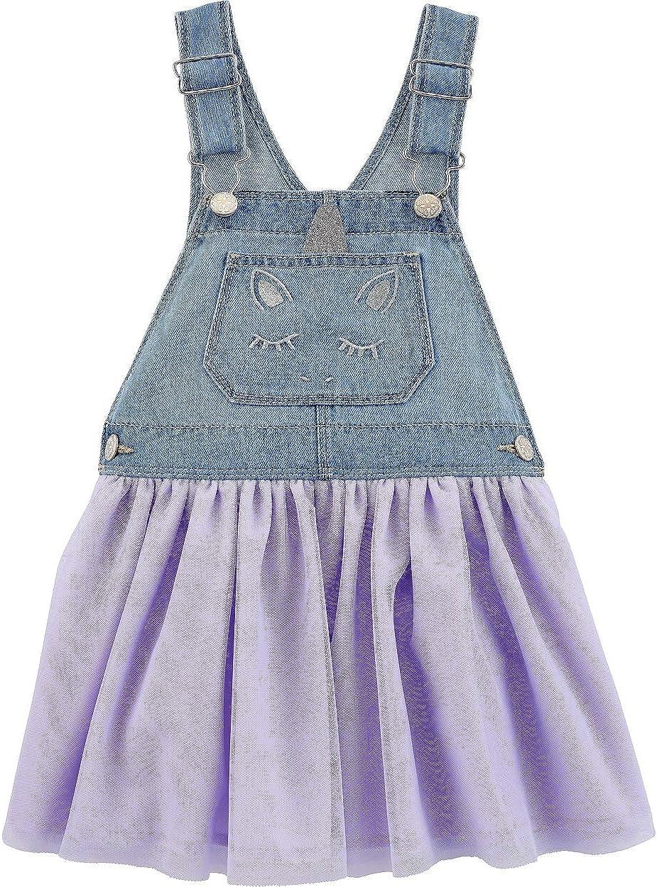 Oshkosh B'gosh Baby Toddler Girls' Unicorn Jumper with Adjustable Straps & Tulle Skirt, Blue,Purple Size (2T-4T)