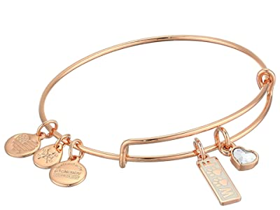 Alex and Ani Duo Charm Meow and Woof Bangle Bracelet (Rose Gold/Woof) Bracelet