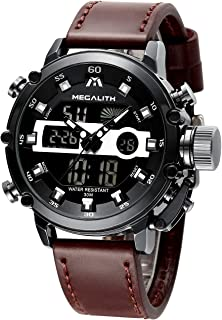 MEGALITH Mens Sports Watches Military Digital Gents Watch Chronograph Waterproof Wrist Watches for Man Boys Kids with Led Backlight Analog Quartz Multifunction Cool Watches Alarm Stopwatch Calendar