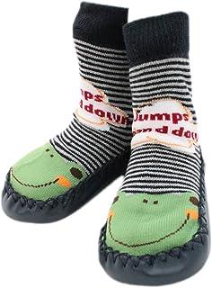 Calcetines para niños y bebés de interior con zapatillas, antideslizantes, para bebés y niños (9-18 meses)