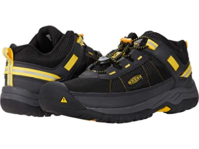 KEEN Kids Targhee Sport (Little Kid/Big Kid) (Black/Keen Yellow) Boy