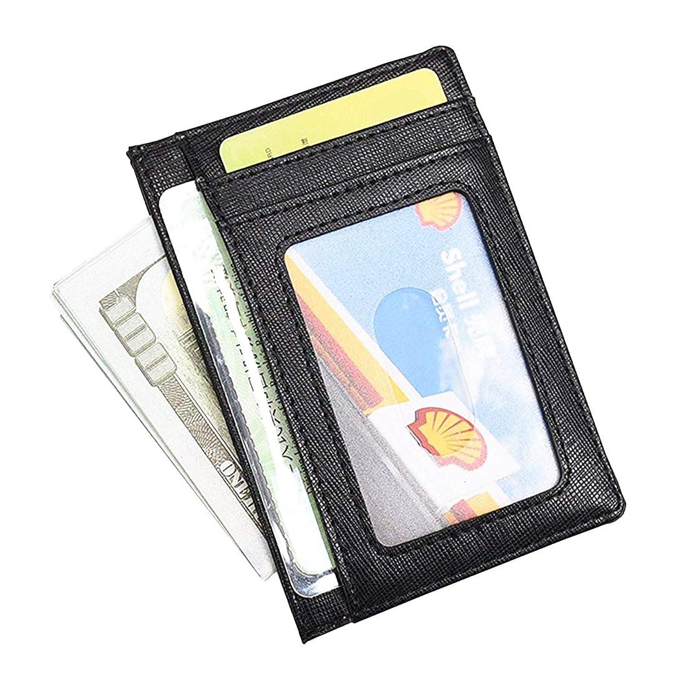 カードケース パスケース 定期入れ カードホルダー IDケース ICケース 本革 薄型 メンズ レディース 8枚収納可 ブラック