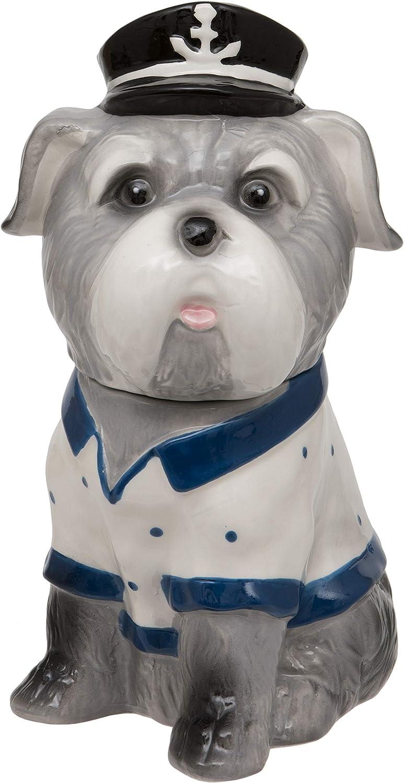 Maturi Sitting Sea Dog Trinket with bluee and White Jumper