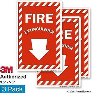 SmartSignFire Extinguisher Label with Down Arrow | 4