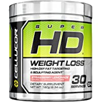 Cellucor SuperHD Thermogenic Fat Burner Powder for Weight Loss 30 Servings (Strawberry Lemonade)