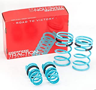 Godspeed LS-TS-HA-0011 Traction-S Performance Lowering Springs, Improve Overall Handling And Steering Response