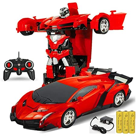 SUPER TOY 2in1 Deformation Transformation RC Robot Car Toy for Kids - Multicolor