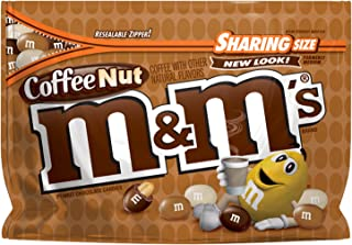 M&M'S Coffee Nut Peanut Chocolate Candy Sharing Size 9.6-Ounce Bags (Pack of 8)