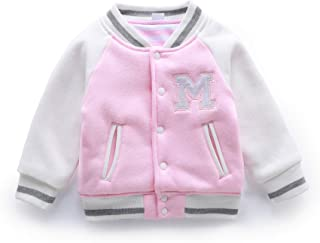 NOMSOCR Newborn Baby Girls Boys Cotton Jacket Coat Warm Outerwear Clothes (0-6 Months, Pink)