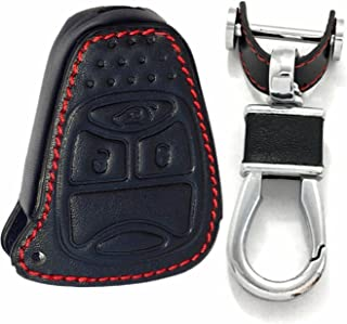 RPKEY Leather Keyless Entry Remote Control Key Fob Cover Case protector For Chrysler Aspen Pacifica PT Cruiser Sebring Avenger Charger Durango Magnum Jeep Commander Grand Cherokee Liberty M3N5WY72XX