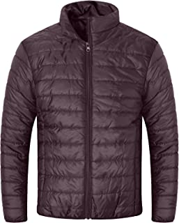 MADHERO Men Packable Puffer Jacket Slim Fit Lightweight Quilted Puffy Outerwear