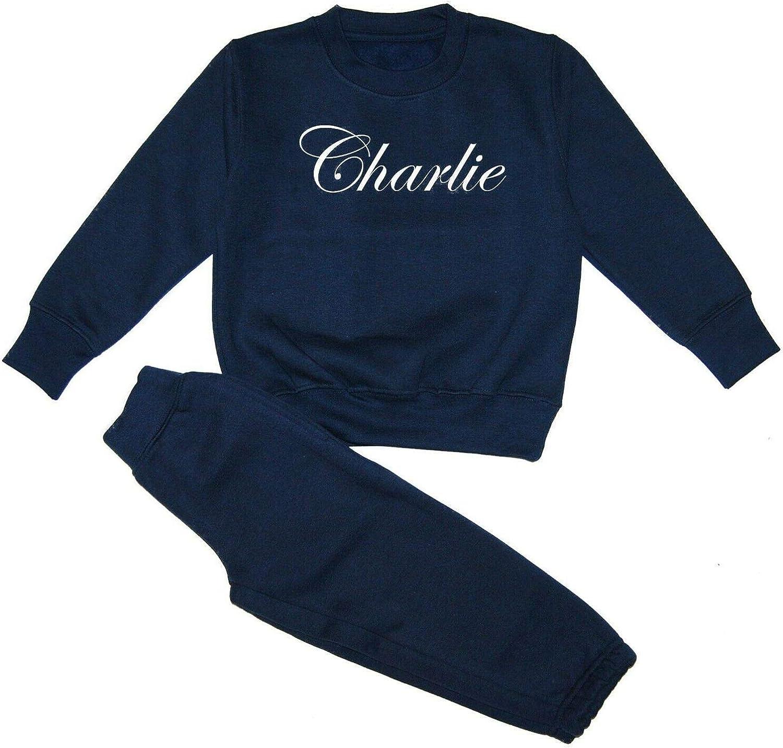 Personalised Boys Girls Baby Name Tracksuit Sweatshirt Joggers Loungewear