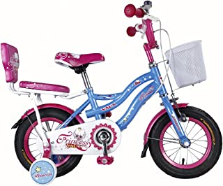 """Vaux Bicycle for Kids- Vaux Princess 12T Kids Bicycle for Girls. Ideal for Cyclist with Height (2'8"""" – 3'3"""") – Blue."""