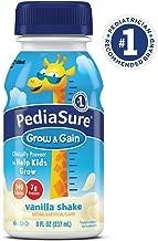 PediaSure Grow & Gain Nutrition Shake For Kids, Vanilla, 8 fl oz (Pack of 24)