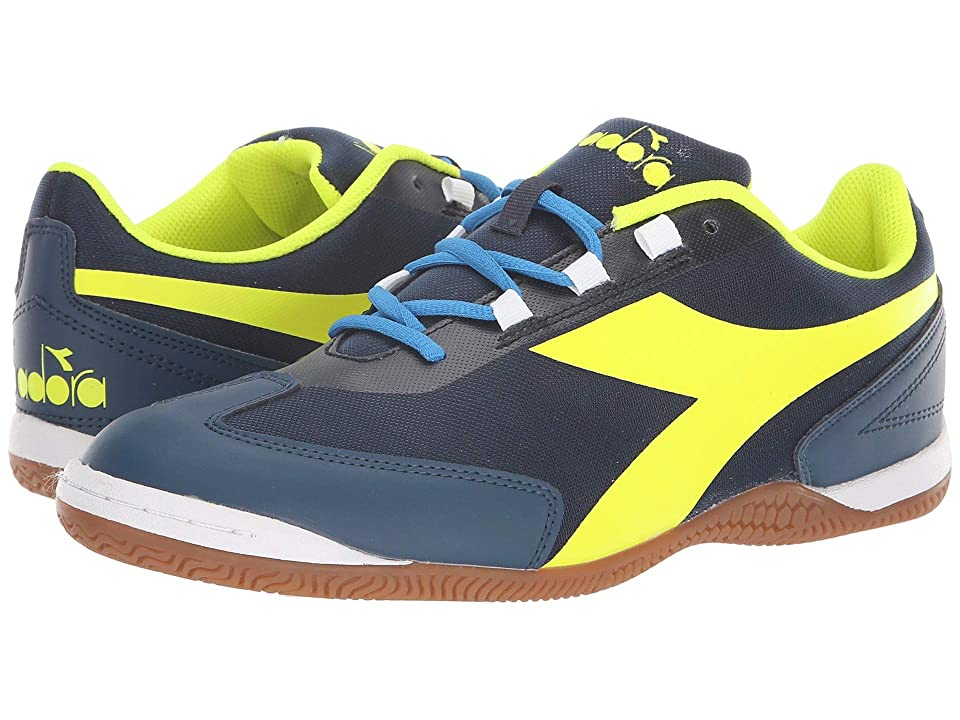 Diadora Futinha ID (Blue Wing Teal/Yellow) Soccer Shoes