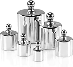 6Pcs 5g 10g 2x20g 50g 100g Grams Precision Steel Calibration Weight Kit Set with Tweezers for Balance Scale