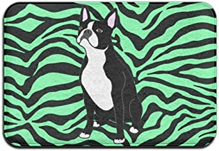 Soft Non-slip Boston Terrier Dog Bath Mat Coral Rug Door Mat Entrance Rug Floor Mats For Front Outside Doors Entry Carpet ...