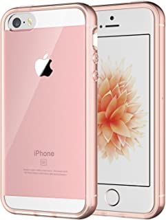JEDirect iPhone SE 5 5s ケース バンパー 衝撃吸収 傷つけ防止 (ローズ)