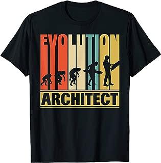 Vintage Retro Evolution Of Architect. Funny Shirt Gifts